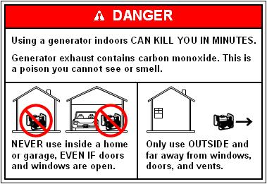 Generator Danger Label